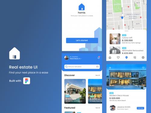 Real estate app UI - real-estate-app-ui