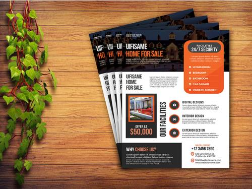 Real Estate Business Flyer Template - real-estate-business-flyer-template