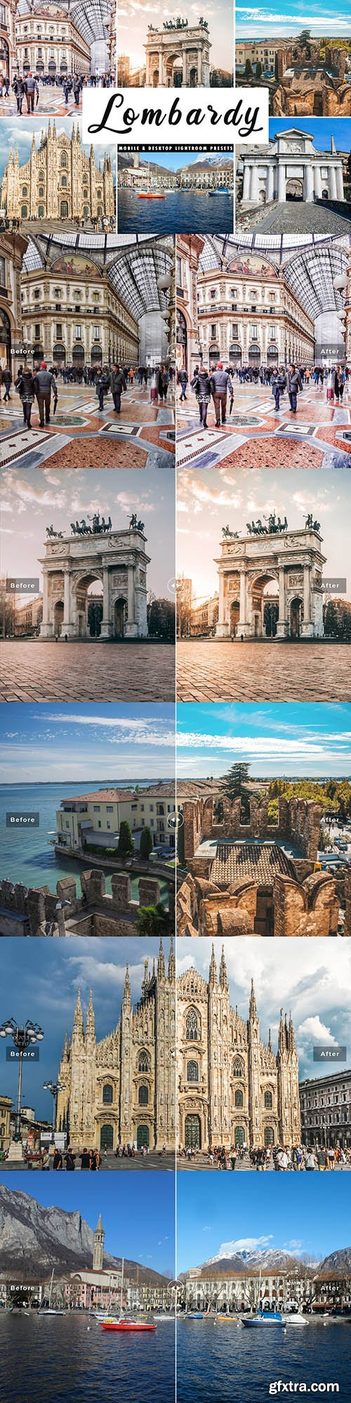 CreativeMarket - Lombardy Lightroom Presets Pack 4508559