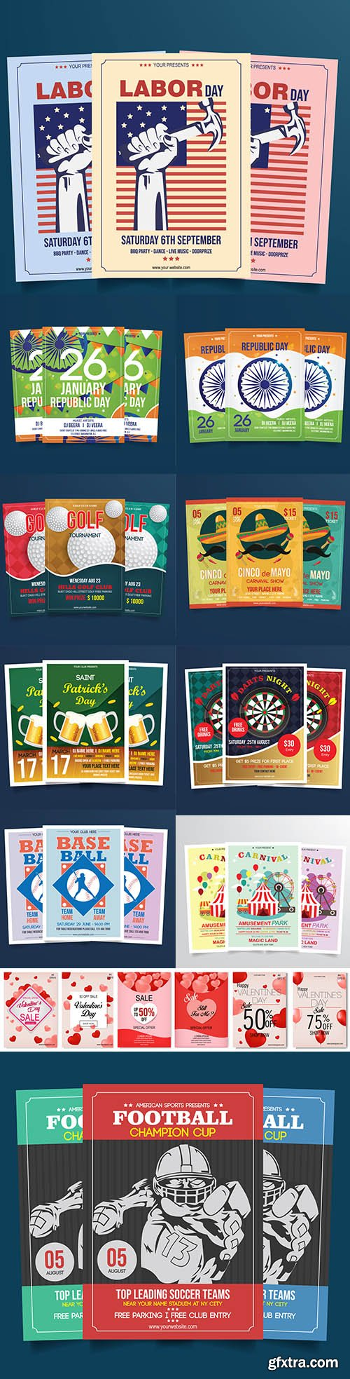 Mix Flyer Vector Template Bundle Vol 6