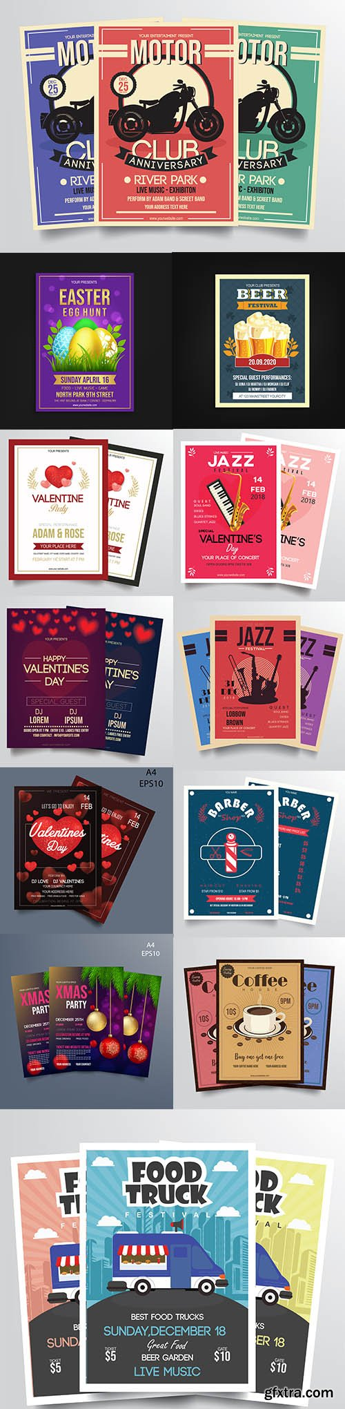 Mix Flyer Vector Template Bundle Vol 4