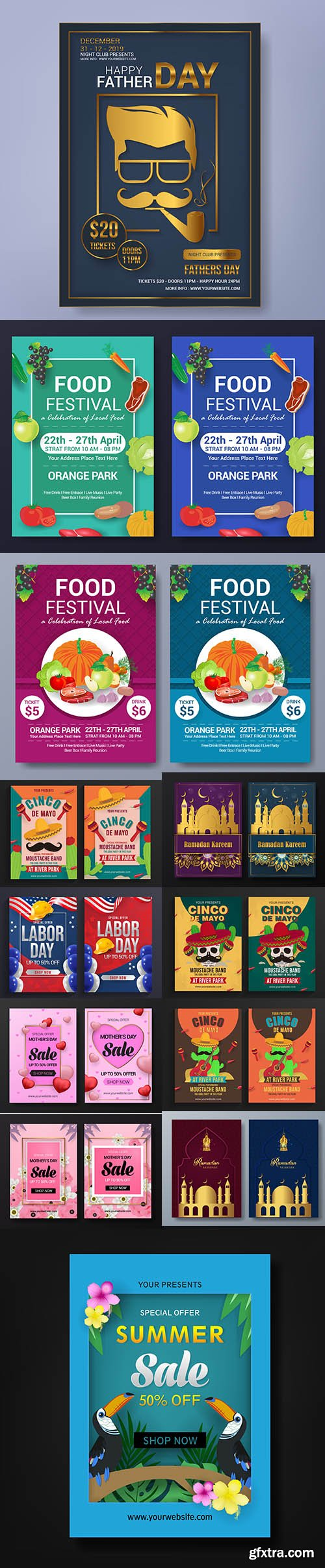 Mix Flyer Vector Template Bundle