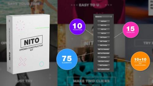 Videohive - NITO - Opener Element Constructor Pack