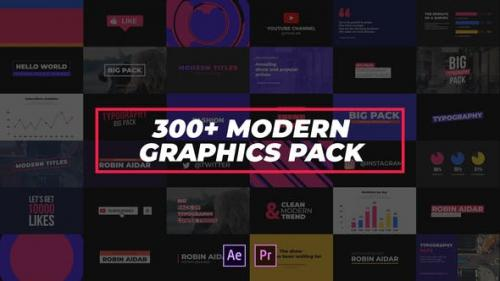 Videohive - 300+ Modern Graphics Pack