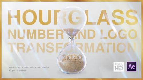 Videohive - Hourglass Number and Logo Transformation