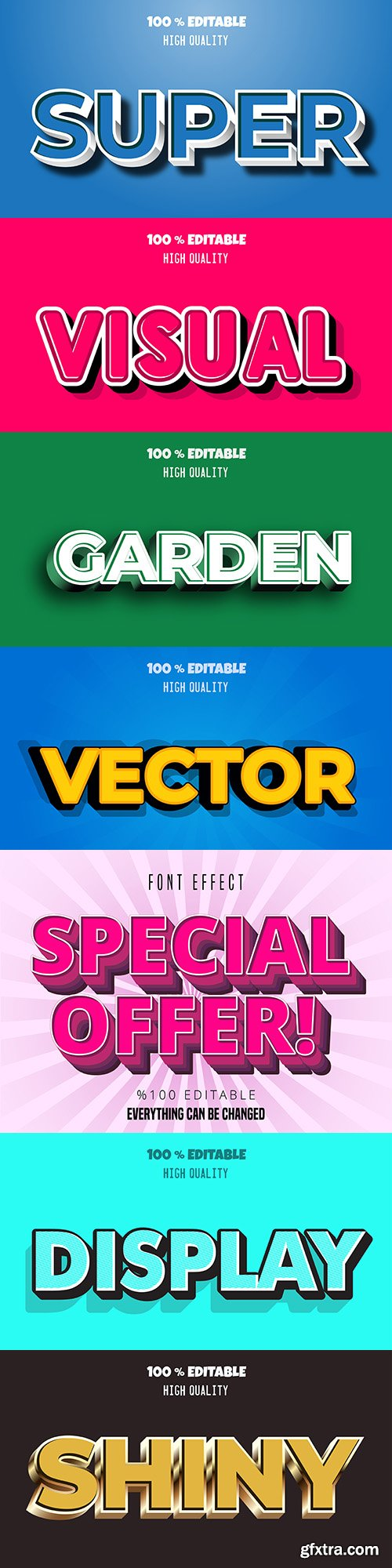 Font effect editable collection illustration 8