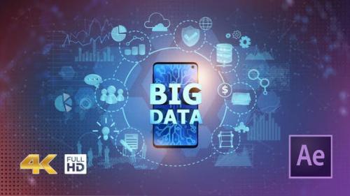 Videohive - BIG DATA on Mobile Phone