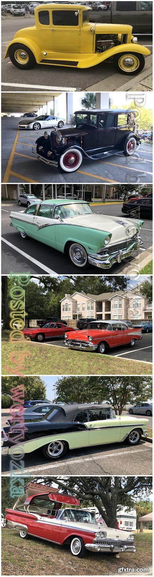 Vintage car beautiful stock photo