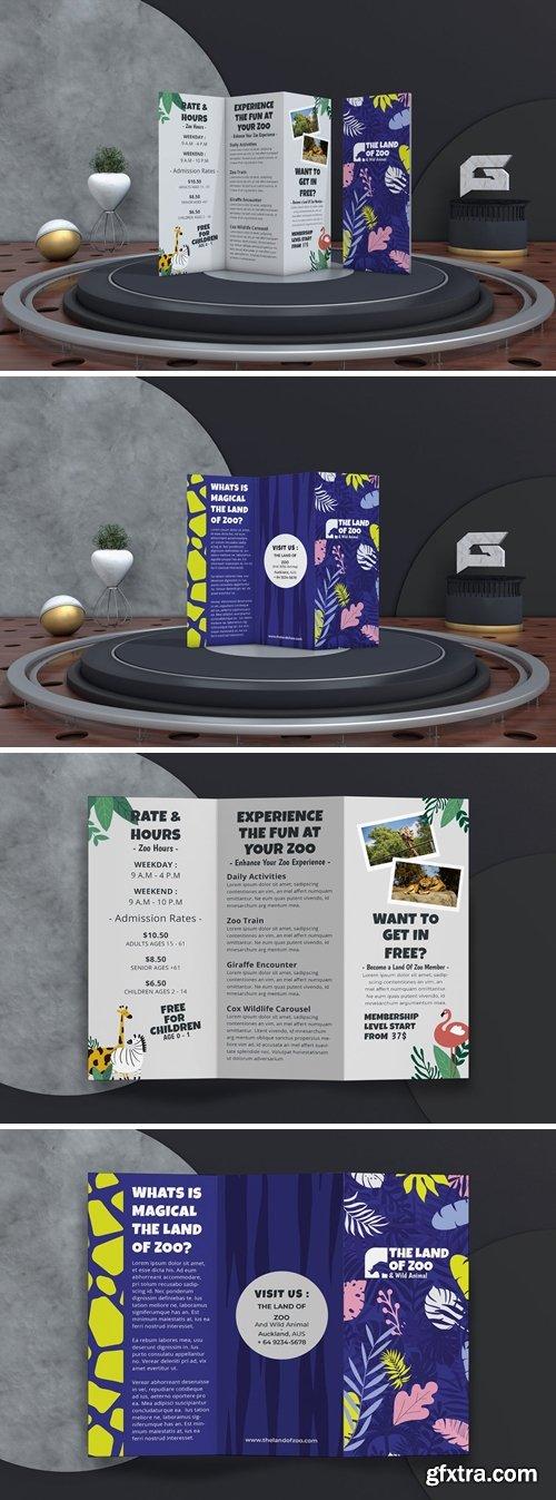 The Land of Zoo Tri Fold Brochure
