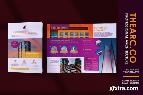 Architect and Contractor - Bifold Brochure