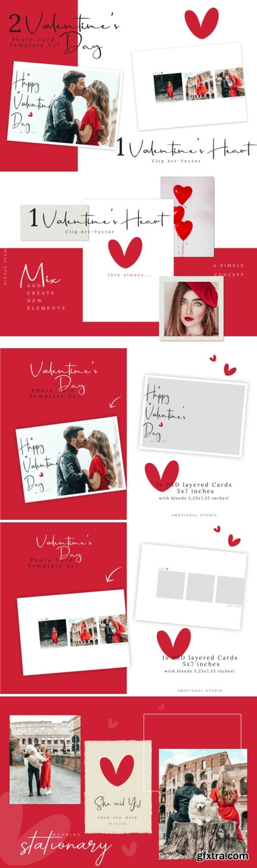 Valentine\'s Day Photo Card Template 2652806