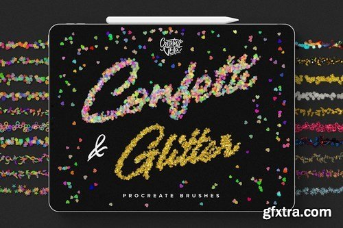 CM - Confetti and Glitter Procreate Brush 4513469