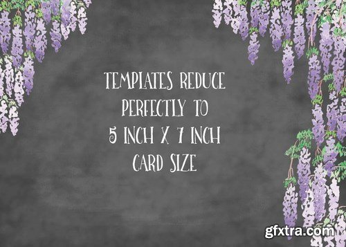 Wisteria Blooms Card or Page Templates