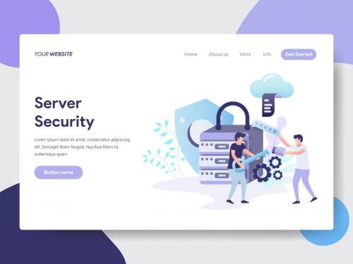 Server Security Illustration - server-security-illustration