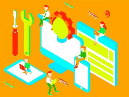 Services Isometric Illustration - services-isometric-illustration