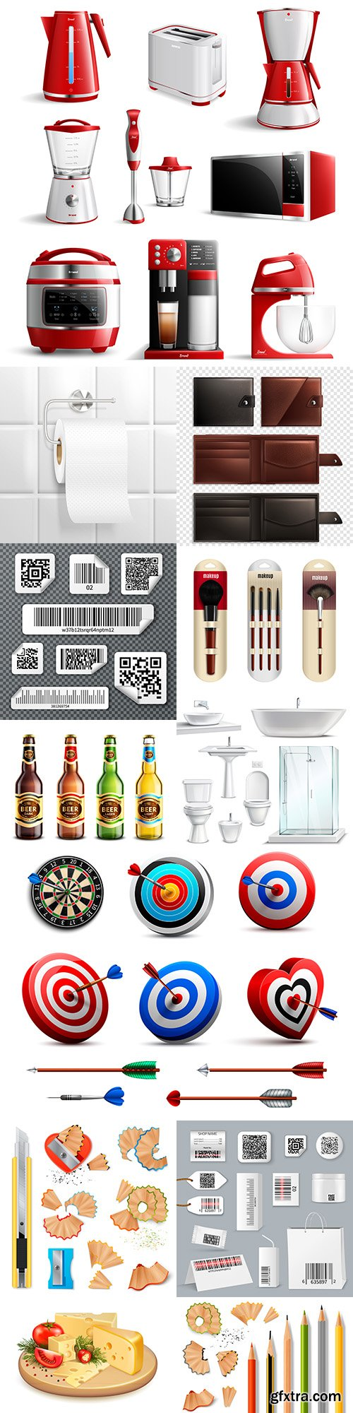 Realistic 3d vector illustrations design collection