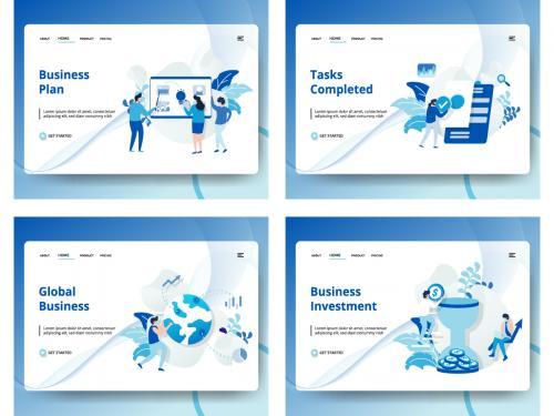 Set of web design page templates - set-of-web-design-page-templates-eef9efca-b4ee-4274-9d5f-23d88daa49e2