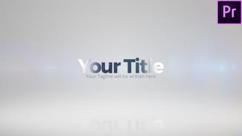Videohive - Glossy Title Reveal