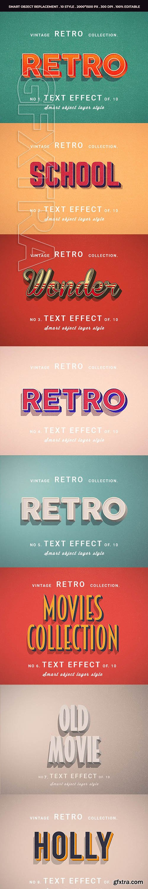 GraphicRiver - Retro Vintage Text Effects For Photoshop V1 25508009
