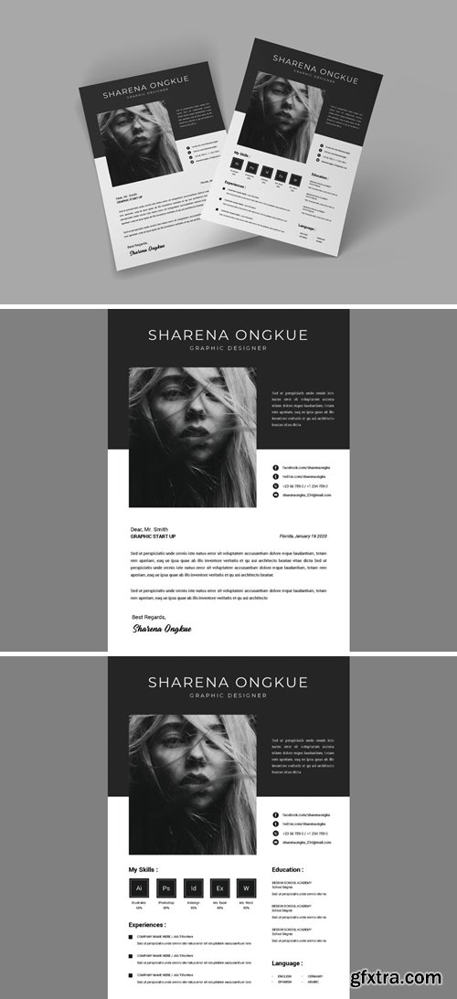 Greyscale CV Resume