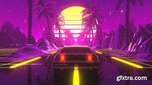 Create A Retro Delorean Loop in Cinema 4D and After Effects
