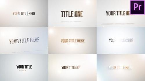 Videohive - Quick Title Sting Pack: Clean & Bright