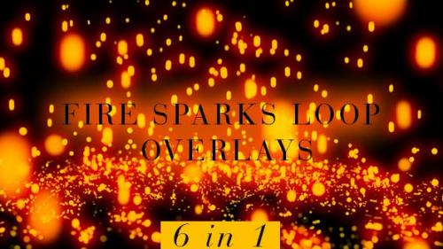 Videohive - Fire Sparks Pack - 6 in 1