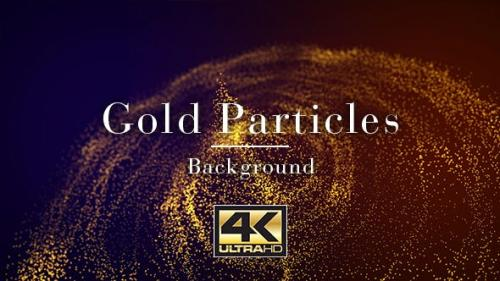 Videohive - Gold Particles Background