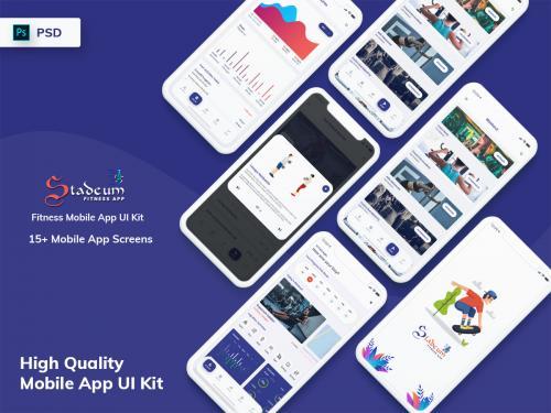 Stadeum - Fitness Mobile App UI Kit - stadeum-fitness-mobile-app-ui-kit