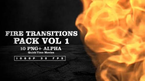 Videohive - Fire Transitions Pack Vol 1