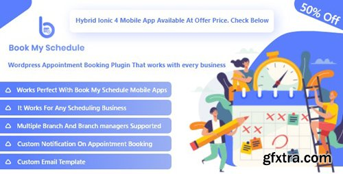 CodeCanyon - BookMySchedule v1.0 - Appointment Booking and Scheduling Wordpress Plugin with Mobile Apps - 24711453