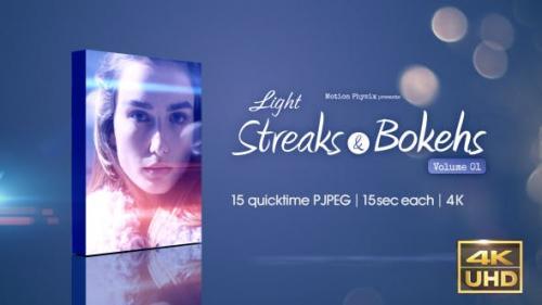 Videohive - Light Streaks and Bokehs vol.1
