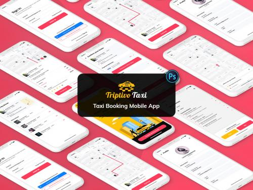 Taxi Booking Mobile App UI Kit Light Version - taxi-booking-mobile-app-ui-kit-light-version