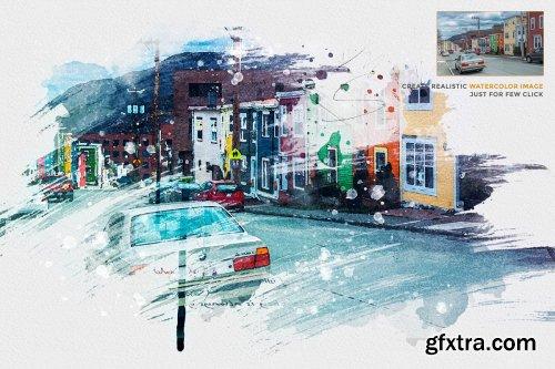 CreativeMarket - Watercolor Photo Template 4434806