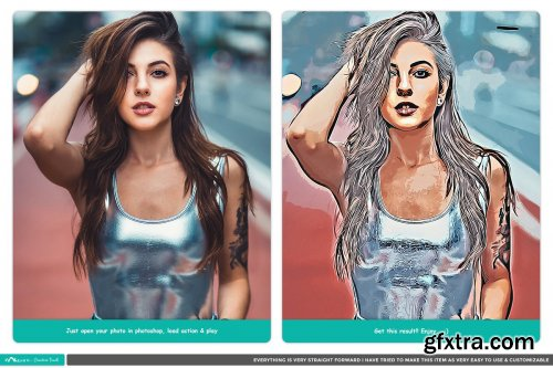 CreativeMarket - Artistic Oil Painting - PS Action 4445363