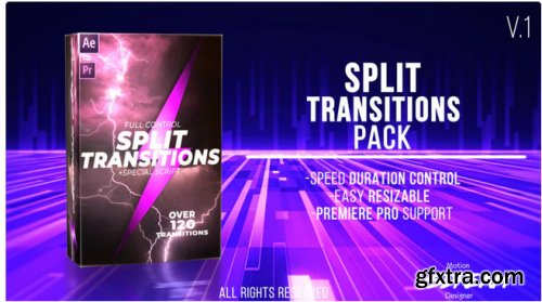 120+ Split Transitions Pack - After Effects 345820