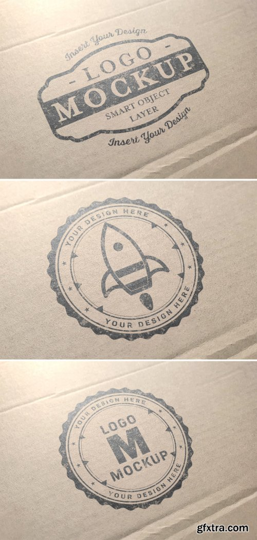 Logo Mockup on Cardboard 315397242