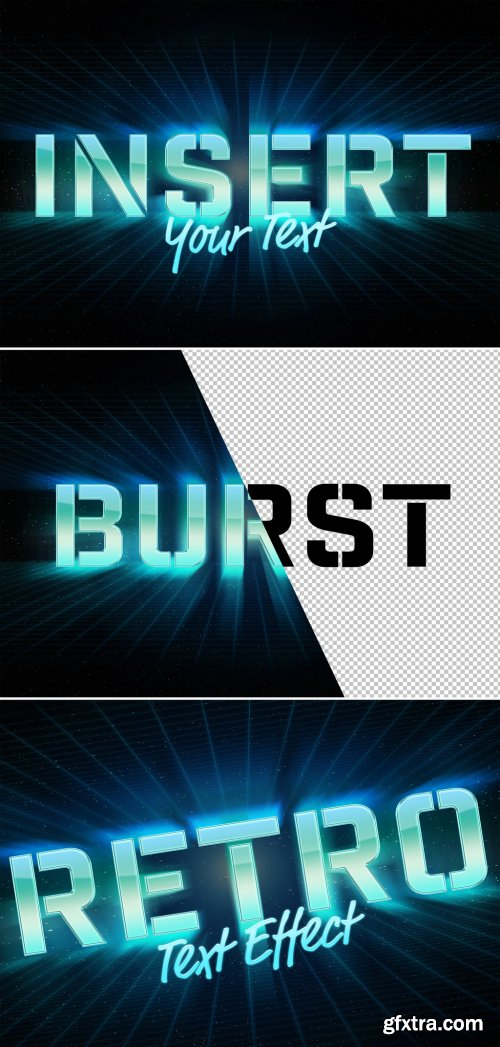 Burst Retro Style Text Effect Mockup 315397348