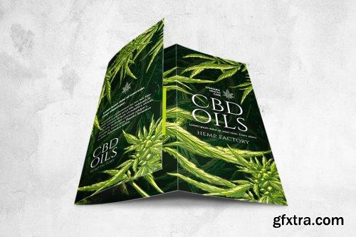 CBD Hemp Oils Trifold Flyer - A4 US Letter