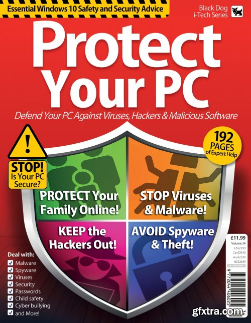 Essential Windows 10 Safety And Security: Protect Your PC - VOL 34, 2019 (HQ PDF)
