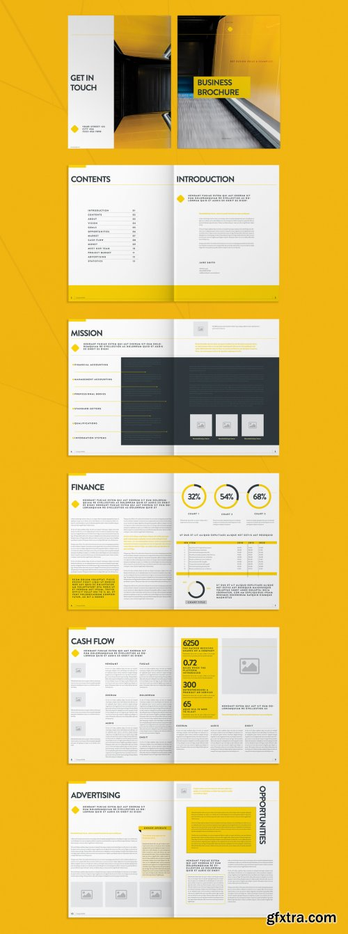 Yellow Business Brochure Layout 274125500