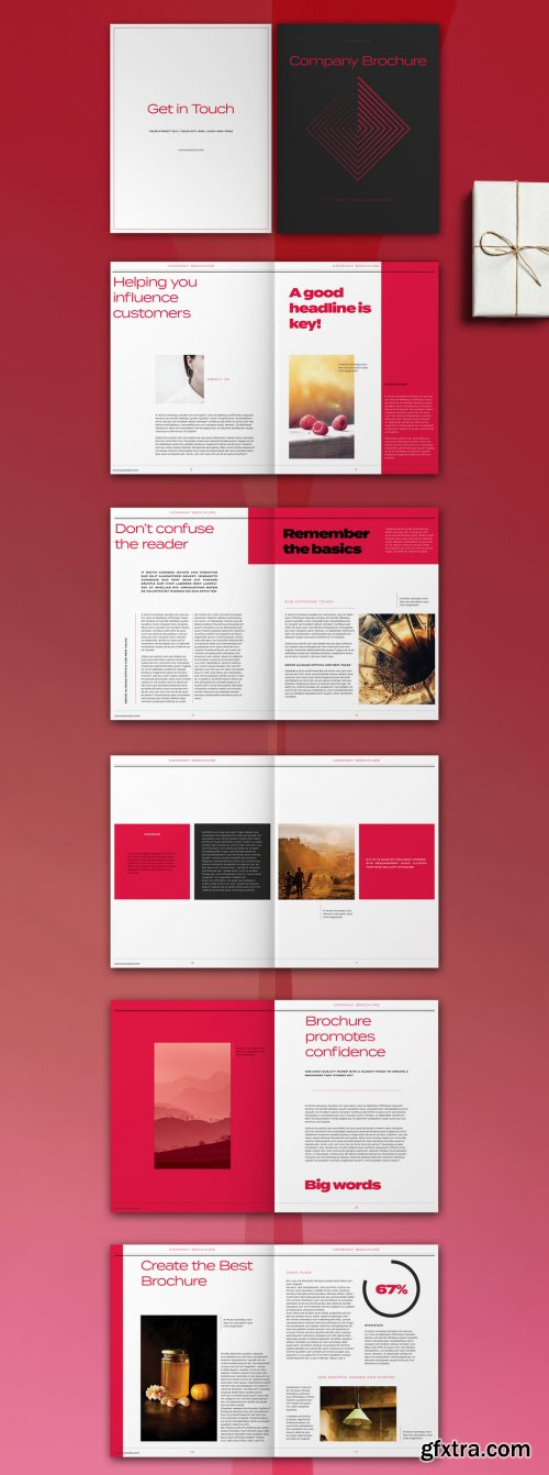 Magenta and White Brochure Layout 315954921