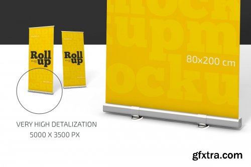 CreativeMarket - Roll-Up Banner Mockup 4470831