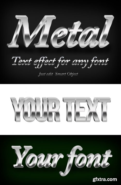 3D Metallic Text Effect Mockup 316244581