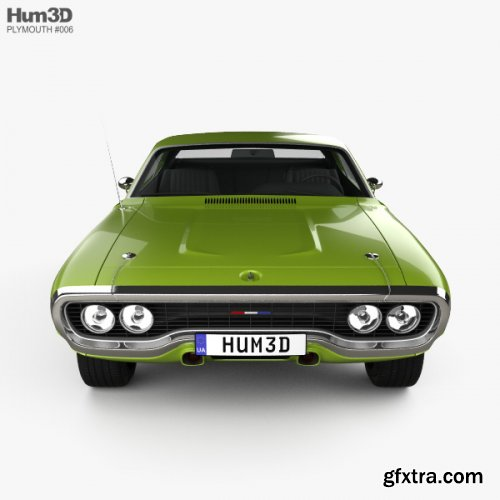 HUM3D - Plymouth Satellite 1971 3D model