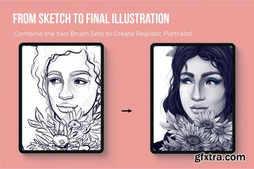 CreativeMarket - Perfect Portrait Brush Bundle 4383361