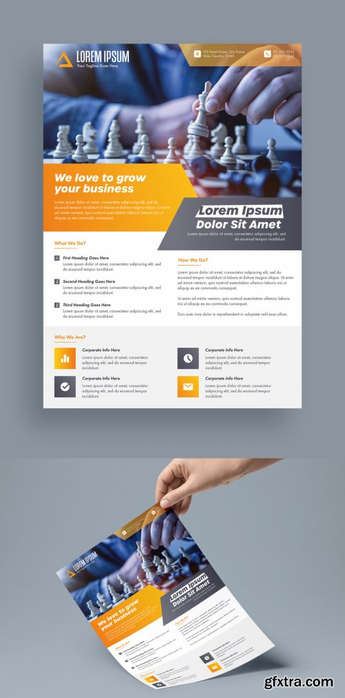 Orange and Grey One Page Business Flyer Layout 315762458