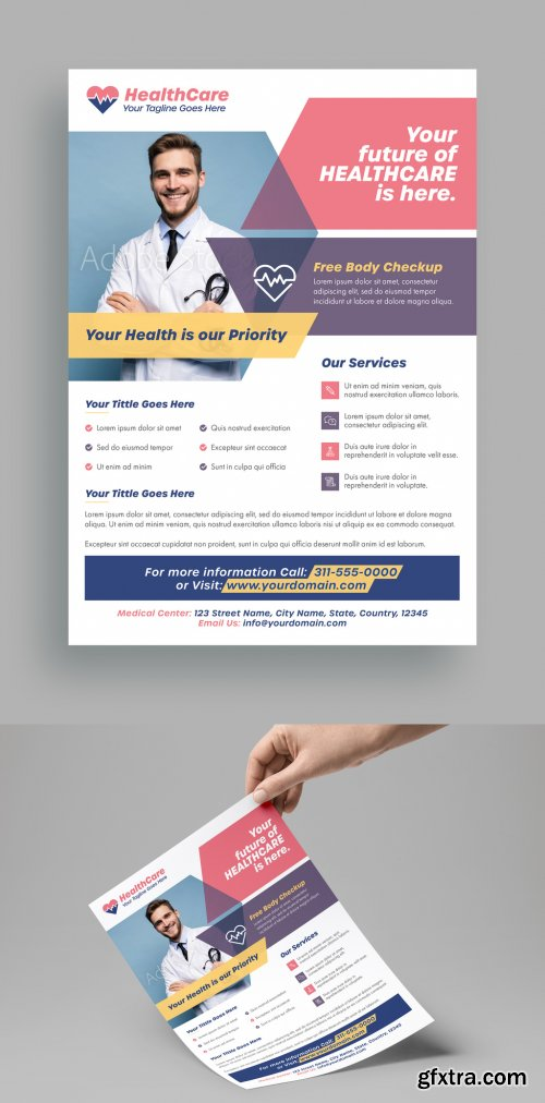 Flyer Layout with Geometric Elements 315765056