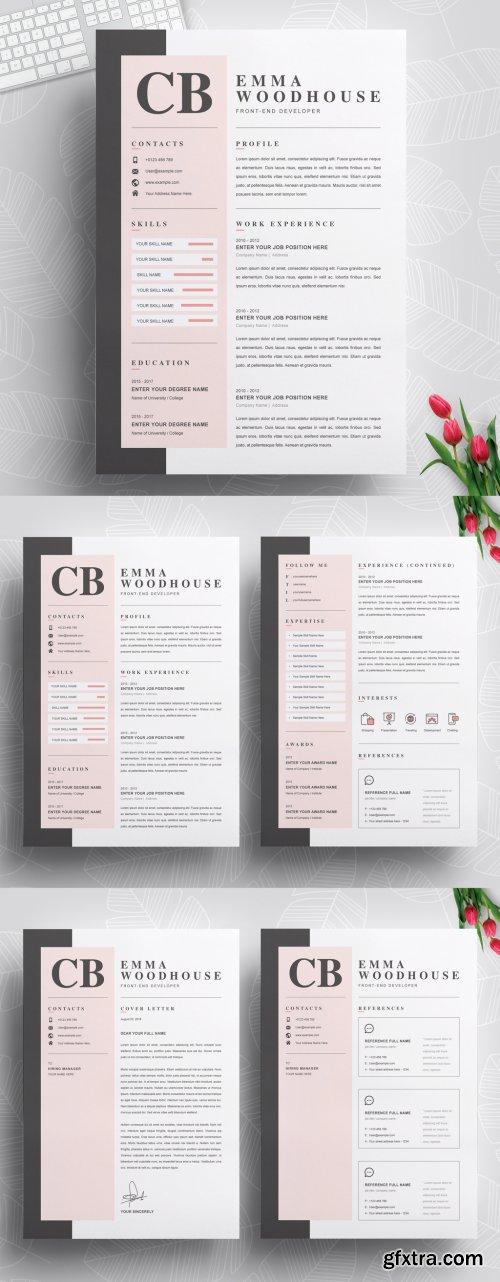 Creative Resume Layout Templates 316254706