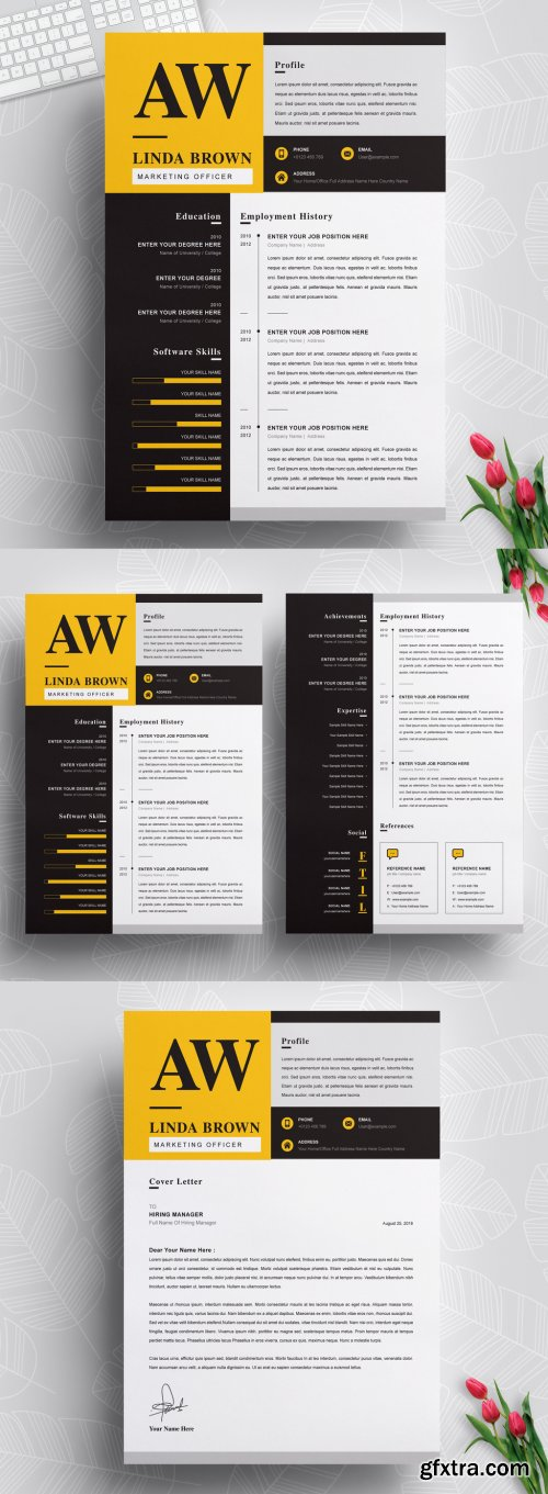 Clean Resume Layout with Cover Letter 316254329